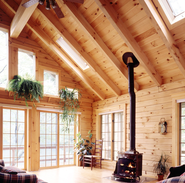 Roof Rafters Real Log Homes Real Log Homes
