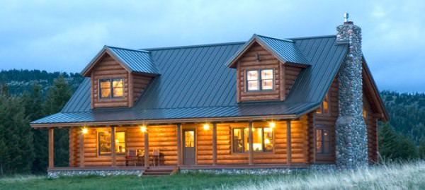 Charming Standing Seam Metal Roofs Are A Very Popular For Log Homes.