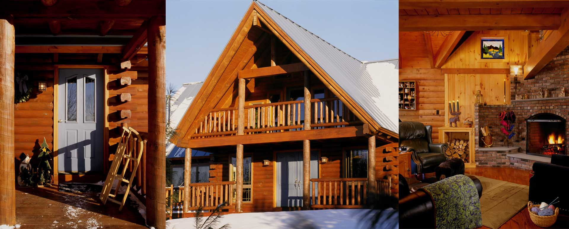 Littleton New Hampshire Ski Log Home