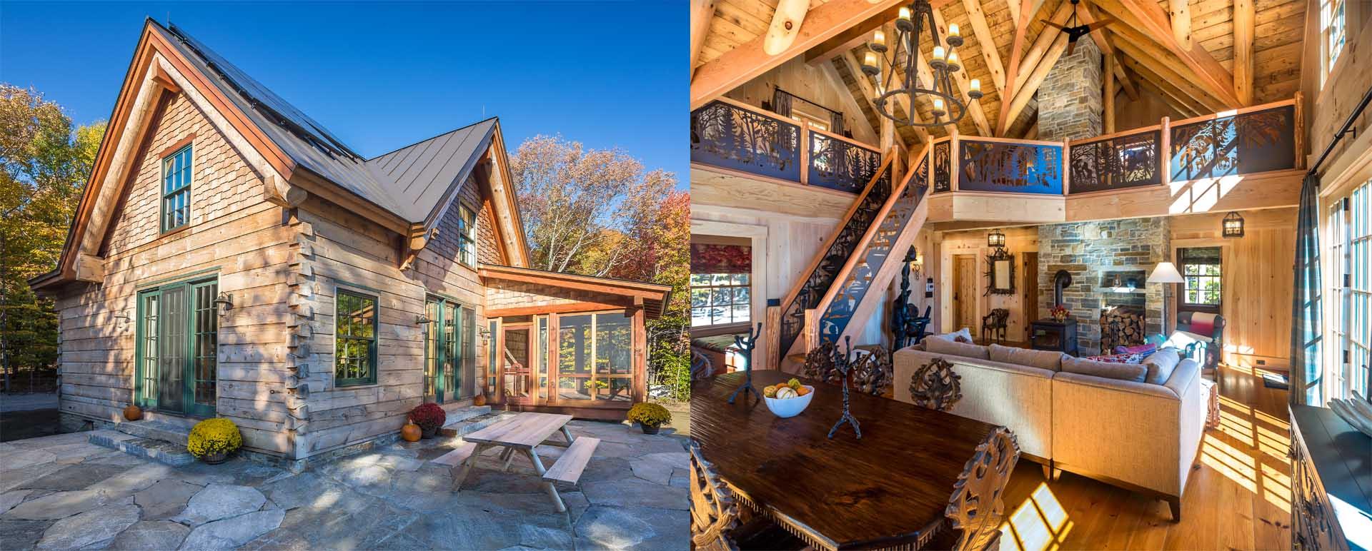 Real log homes log home plans log cabin kits for Luxury log cabin kits