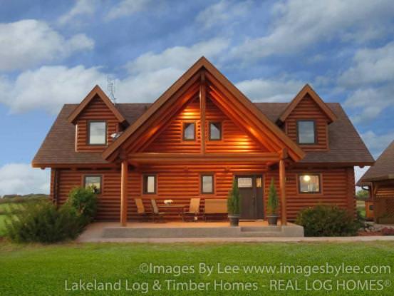 Model Home In Minnesota Real Log Homes