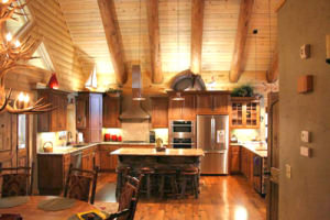 Kitchen Lighting In The Log Home Real Homes