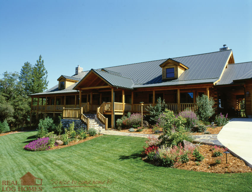 California real log homes log homes ca for Small weekend cabin plans