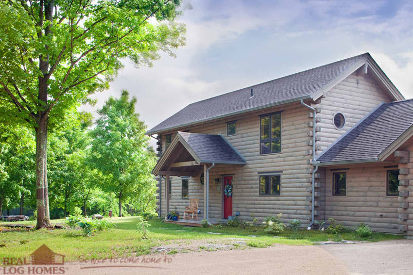 Vermont real log homes log home builder vt for Vermont home builders