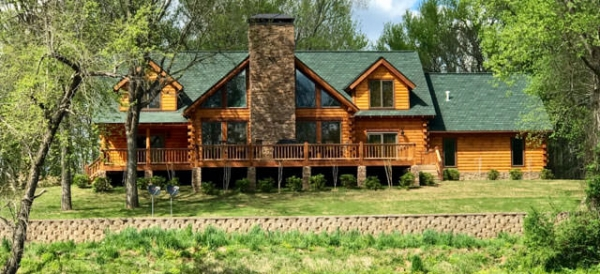 Green gables a log home on the little red river real for Gable log homes