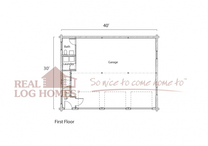 Prescott az real log homes arizona log home garage for Real log homes floor plans