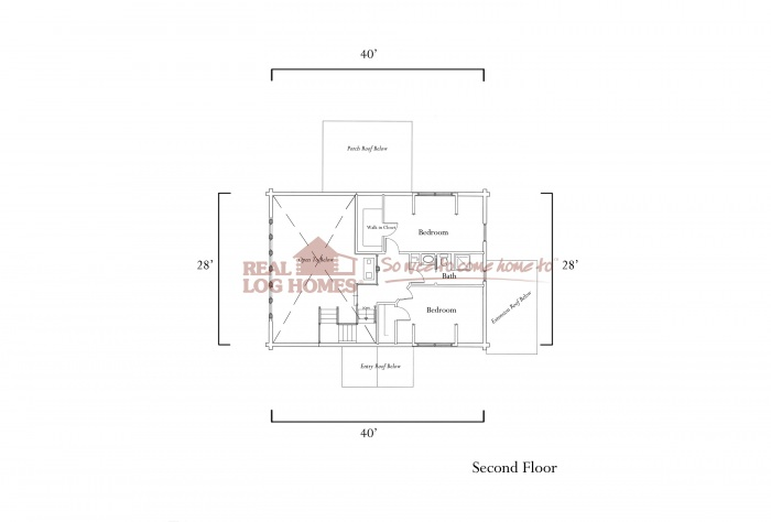 3 bedroom log home floor plan real log homes for Real log homes floor plans