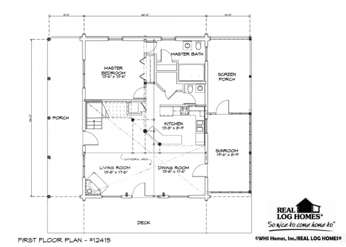 house blue prints creekside comfort cabin cosby tn l12415 real log homes 12415