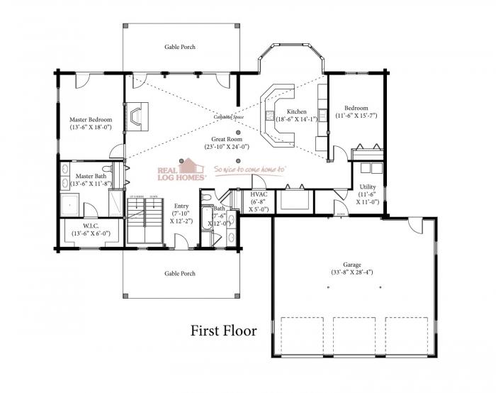 Blue eye mo l12471 real log homes for Real log homes floor plans