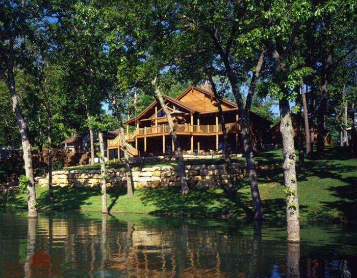 Back Exterior Real Log Homes