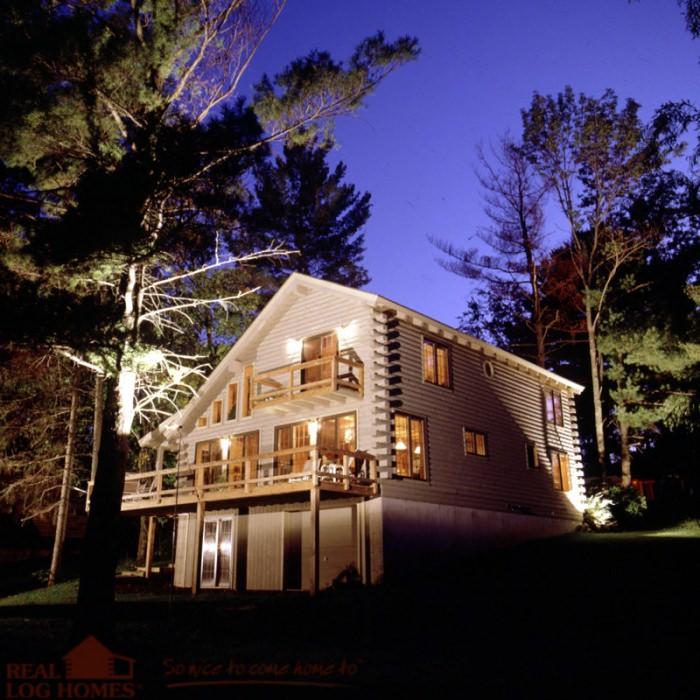 Lake St Catherine Vt Real Log Homes Vermont Log Home