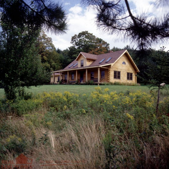 Whiting Vt Real Log Homes Vermont Log Home