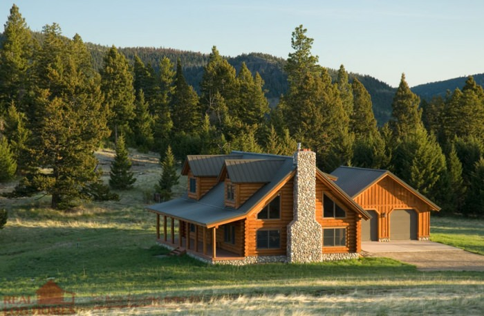 Back Exterior Real Log Homes