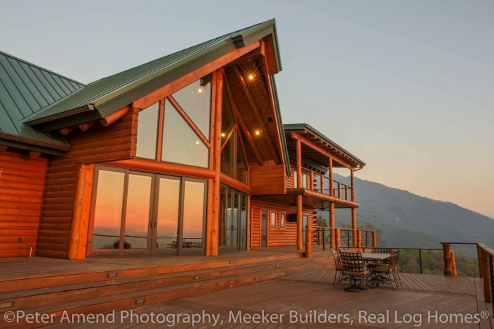 Tipton ca real log homes california log home for Tipton home builders