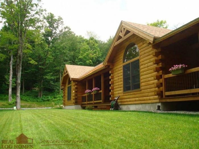 Underhill Vt Real Log Homes Vermont Log Home