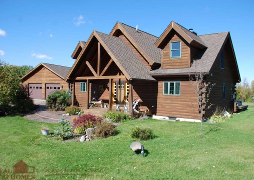 Marion, NY Log Home