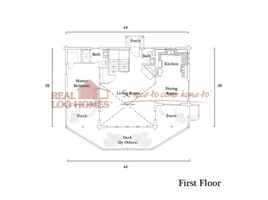 Unionvale ny l10046 real log homes floor plan for Real log homes floor plans