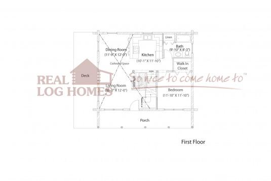Chester vt l11196 real log homes floor plan for Real log homes floor plans