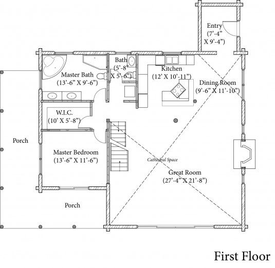 Chittenden vt l12218 real log homes floor plan for Vermont house plans