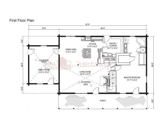 03w0046 real log homes floor plan for Real log homes floor plans