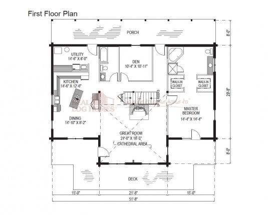 03w0047 real log homes floor plan for Real log homes floor plans