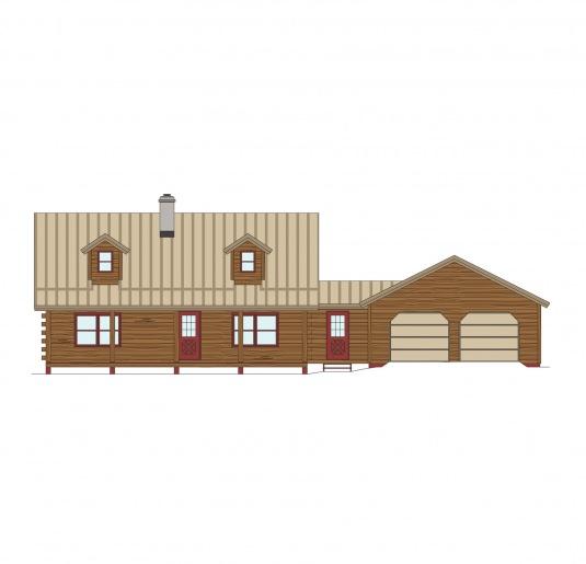 03w0081 real log homes floor plan for Real log homes floor plans