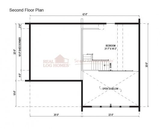 03w0105 real log homes floor plan for Real log homes floor plans
