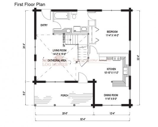 03w0147 real log homes floor plan for Real log homes floor plans