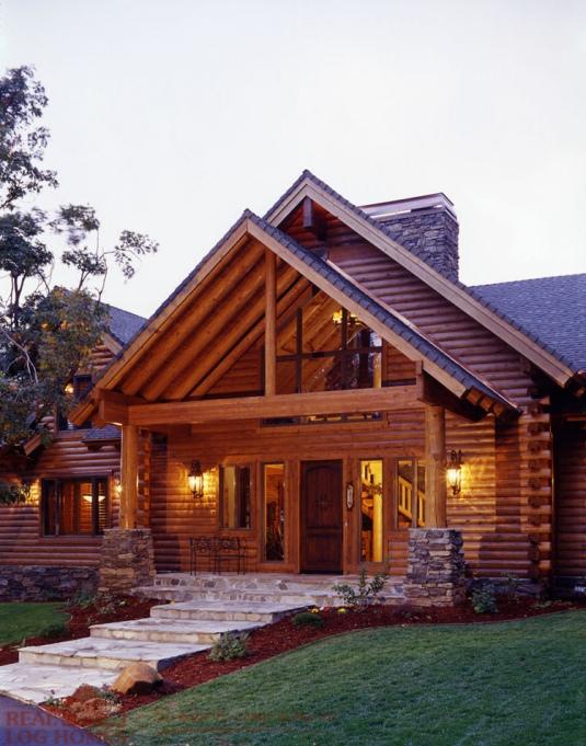 Colfax ca 10625 real log homes floor plan for Real log homes floor plans