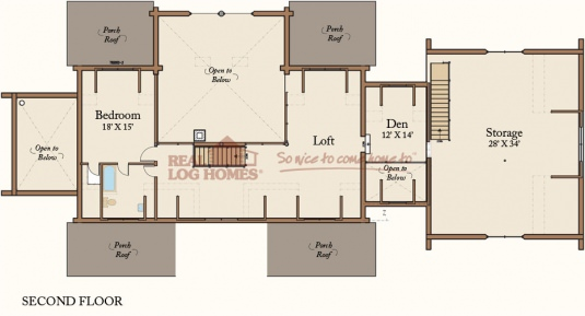 Columbia station oh l10686 real log homes floor plan for Real log homes floor plans