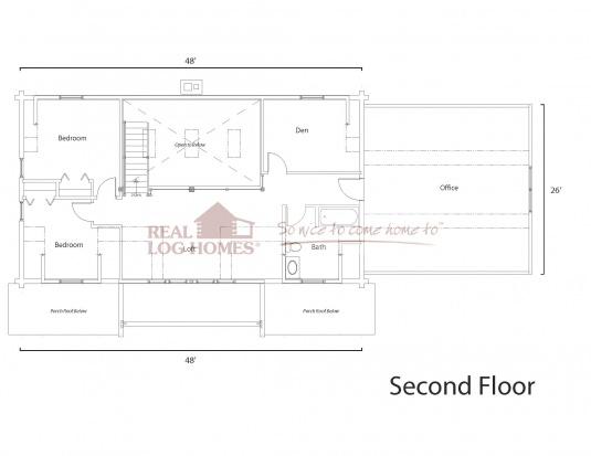 Medina oh 10700 real log homes floor plan for Real log homes floor plans