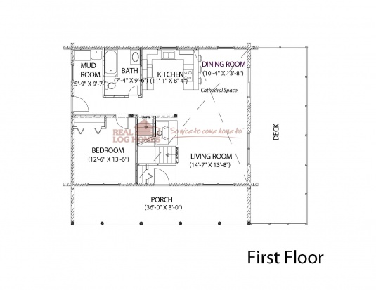 Modified sonora in rockville in l11064 real log homes for Real log homes floor plans