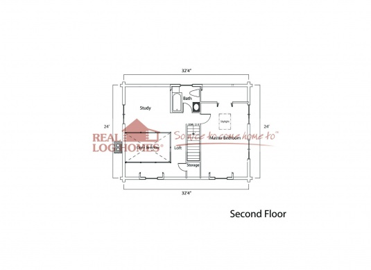 Union ky 6014 real log homes floor plan for Real log homes floor plans