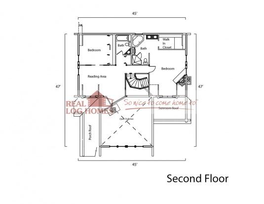 Ozark mountain log homes ar 6425 real log homes floor for Real log homes floor plans
