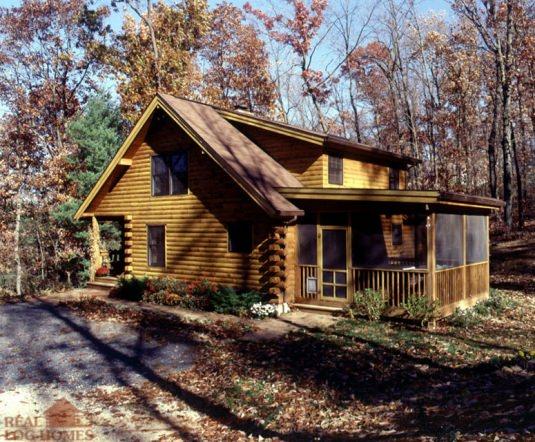Glen rock pa 6934 real log homes floor plan for Real log homes floor plans