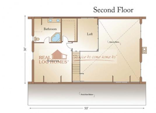 Powell mt 9952 real log homes floor plan for Real log homes floor plans