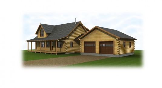 The auburn real log homes floor plan for Real log homes floor plans