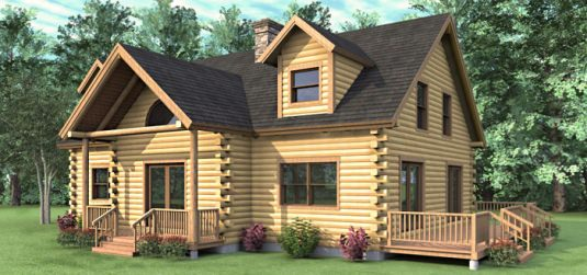 The claremont 03w0010 real log homes floor plan for 2 bedroom cabin kits