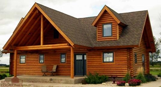 Lakeland log homes model mn l10041 real log homes for Real log homes floor plans