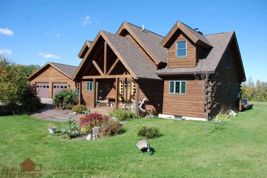 Marion ny l10571 real log homes floor plan for Real log homes floor plans