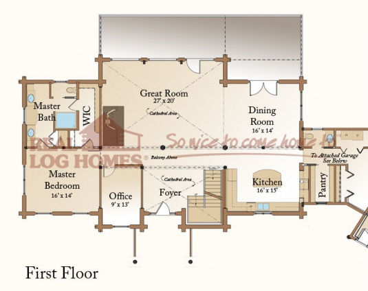 Arabian 39 s big river lodge l11842 real log homes floor plan for Real log homes floor plans
