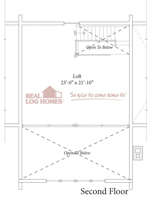 Belchertown ma 9385 real log homes floor plan for Real log homes floor plans