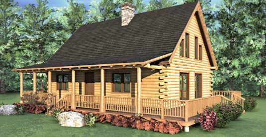 The sonora 03w0013 real log homes floor plan for Real log homes floor plans