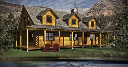The ashley 03w0011 real log homes floor plan for Real log homes floor plans