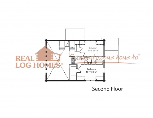 The cascade real log homes floor plan for Real log homes floor plans