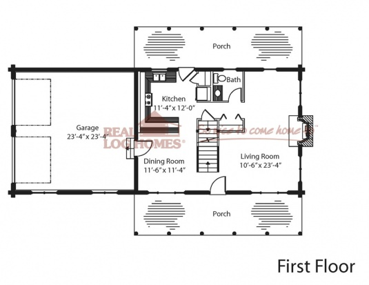 The livermore real log homes floor plan for Real log homes floor plans