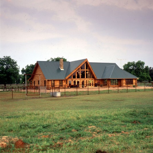 Ranch style real log homes for New construction ranch style homes in illinois