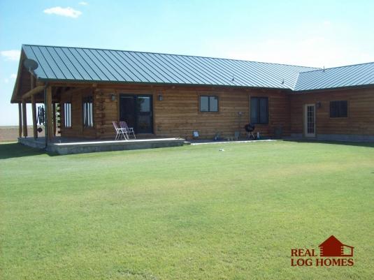 Hugoton Ks L10779 Real Log Homes Exterior Pictures