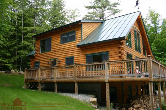 Enfield Nh L11345 Real Log Homes Exterior Pictures