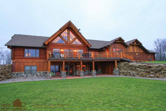The Starview Wi L11403 Real Log Homes Exterior Pictures